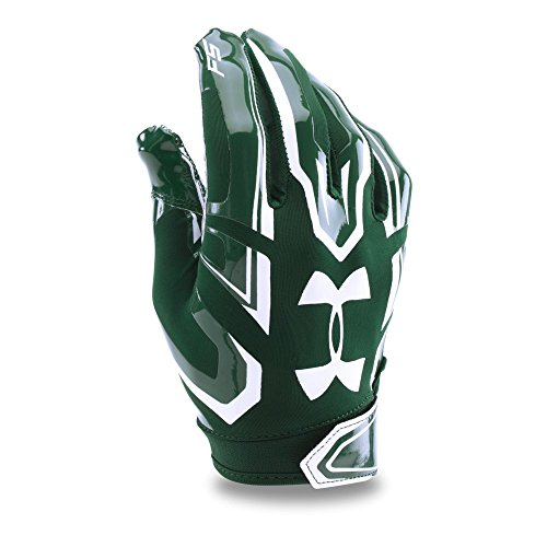 Small Forest Green Under Armour Adult F5 Receiver Gloves