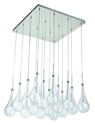 Hilite Glass Pendant - Pendants 16 Light with Polished Chrome Tones in Finished Clear Glass G4 Bulbs 19 inch