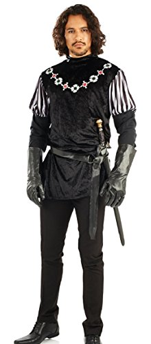 Mens Sheriff of Nottingham Sherwood Forest Robin Hood Villain Carnival Halloween Festival Fancy Dress Costume Outfit M L XL (Large) -