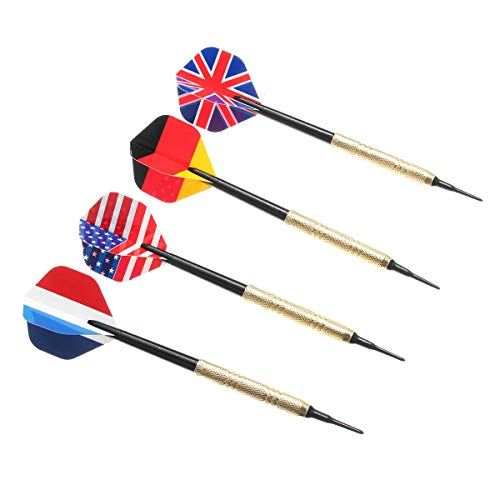 - 12Pcs Professional National Flag Tail Darts 4 Kinds with 100 Extra Soft Tips