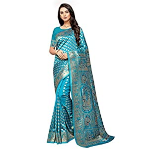 Freya crafts Women's Banarasi Silk Saree