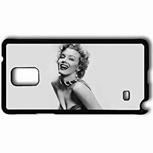 Personalized Samsung Note 4 Cell phone Case/Cover Skin Marilyn Monroe Black