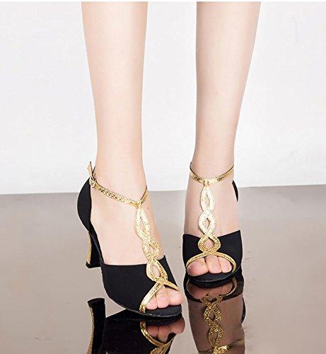 Danse Heels WYMNAME Noir Sociale Womens Chaussures Fond Chaussures de Latine de Mou Danse High Danse de Chaussures Wzf0qrxgzw
