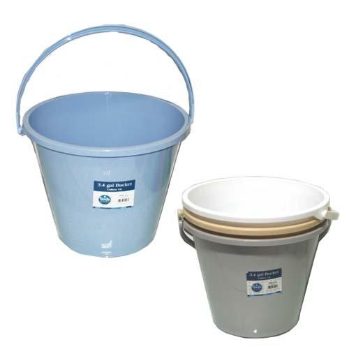 Pl. Bucket 3.4 Gallons 13L 4 Colors, Case of 24