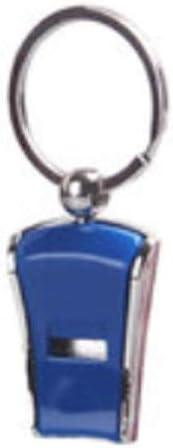 緊急ホイッスル、屋外緊急ホイッスル、サバイバルホイッスル、プラスチックホイッスル、5色から選択可能。 (Color : Blue)
