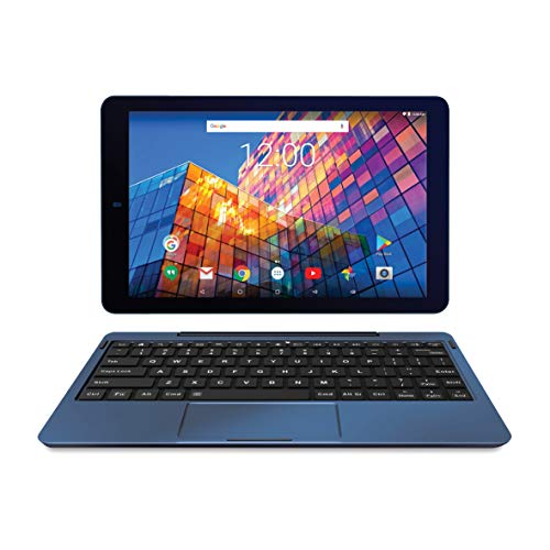 RCA 10' Android 7.0 Quad Core Tablet with Keyboard Touchscreen WiFi 16G Storage (10', Navy)