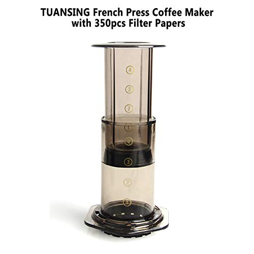 SODIAL Press Coffee Portable Coffee Maker Air Press Espresso Machine With 350Pcs Filter Papers by SODIAL (Image #1)