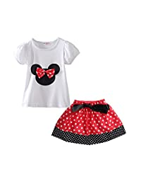 Mud Kingdom Little Girls' Polka Dot Cute 2pc Clothing Sets