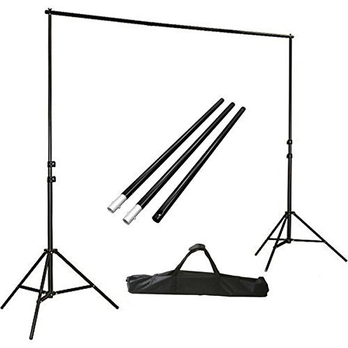 ePhotoInc-Photo-Video-Studio-Background-stands-Adjustable-Photography-Video-Muslin-Backdrop-Support-System-Stands-Set-with-Case-H904B