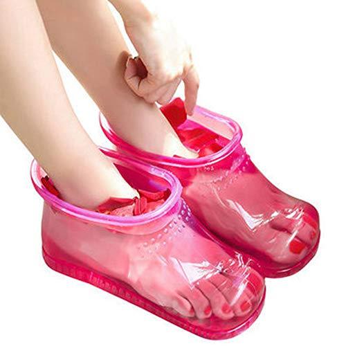 JWR Baño de pies Botas de Masaje Hogar Relajación Zapatillas Zapatos Cuidado de los pies Compresa Caliente Pie Remo Terapia...