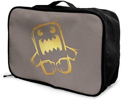 アレンジケース どーもくん 旅行用トロリーバッグ 旅行用サブバッグ 軽量 ポータブル荷物バッグ 衣類収納ケース キャリーオンバッグ 旅行圧縮バッグ キャリーケース 固定 出張パッキング 大容量 トラベルバッグ ボストンバッグ
