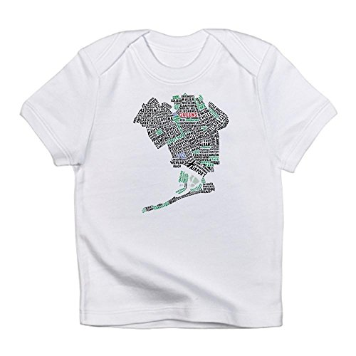 CafePress - Queens New York Map Typography Infant T-Shirt - Cute Infant T-Shirt, 100% Cotton Baby (Elmhurst Queens)