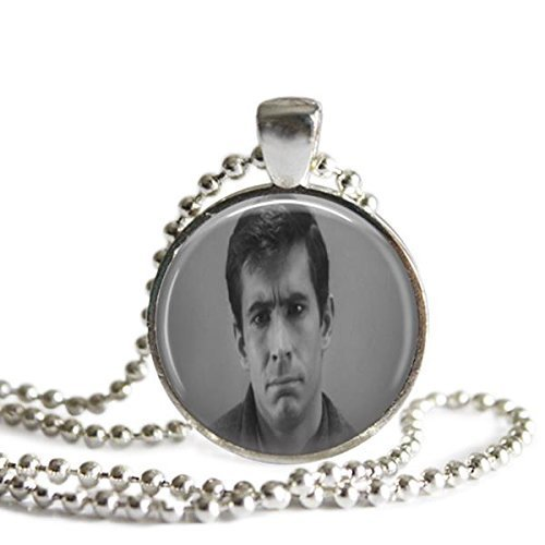 Norman Bates Silver Plated Photo Pendant Psycho Necklace (Halloween Costumes Norman Bates)