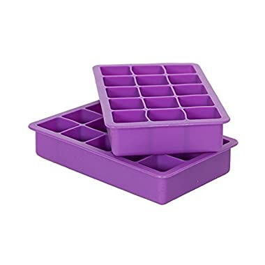 Elbee Coolest 15-Cube Silicone Ice Tray – 2-Piece Mold Set – Make 30 Cubes!