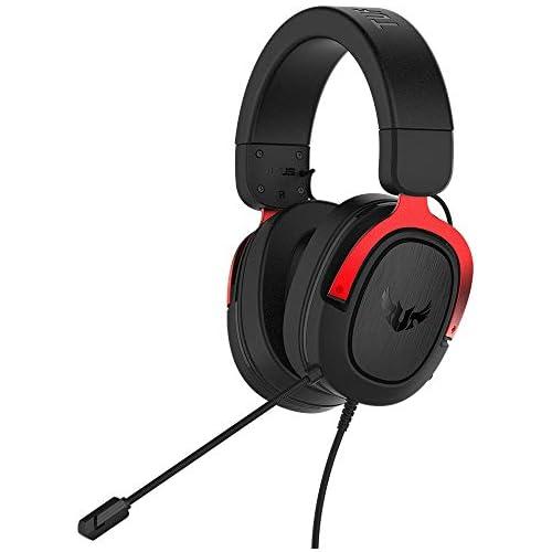 chollos oferta descuentos barato ASUS TUF Gaming H3 Auriculares de gaming para PC PS4 Xbox One Mac Nintendo Switch y telefonos móviles con sonido envolvente 7 1 graves potentes diseño ligero rojo