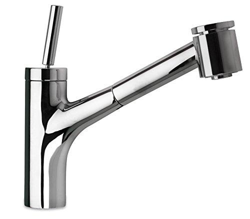 LaToscana 78CR576JO Elba Single Handle Joystick Pull-Out Kitchen Faucet with 2 Function Sprayer, Chrome Finish
