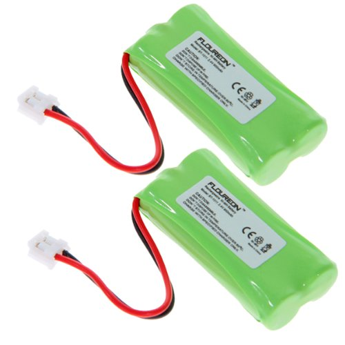Floureon 2 Packs Rechargeable Cordless Phone Batteries for AT&T/Lucent 3101, 3111, AT-3201, AT-3211-2, BT-18433, BT-184342, BT-28433, BT-284342, BT-6010, BT-8000, BT-8001, BT-8300
