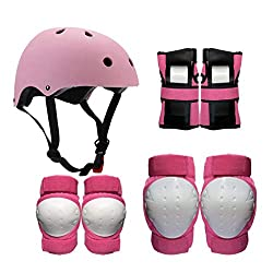 ZCP Helmet Protectors, Children's Adult Skating Protective Gear Helmet Skating Skiing Roller Skates Protective Gear Scooter Riding Knee Pads