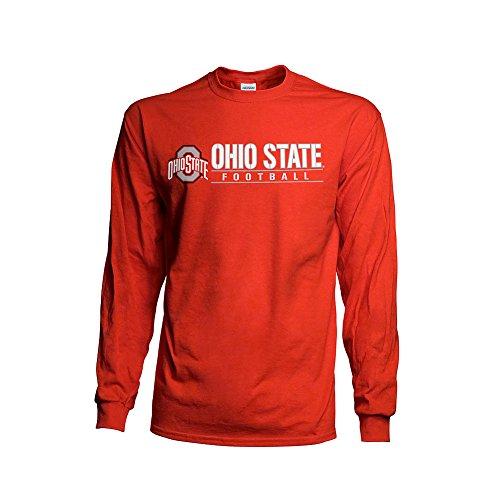 Elite Fan Shop Ohio State Buckeyes Football Long Sleeve TShirt Red - M
