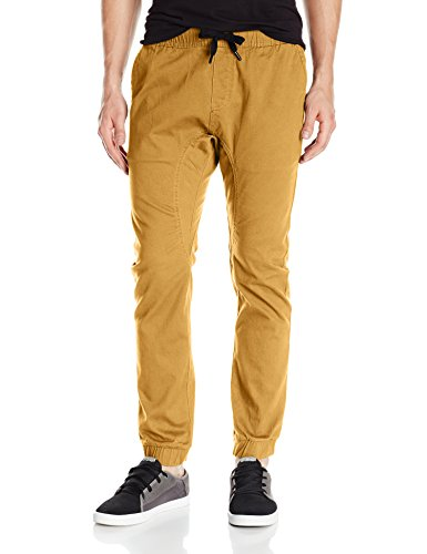 Skate Pants - Southpole Men's Basic Stretch Twill Jogger Pants, Caramel, Large