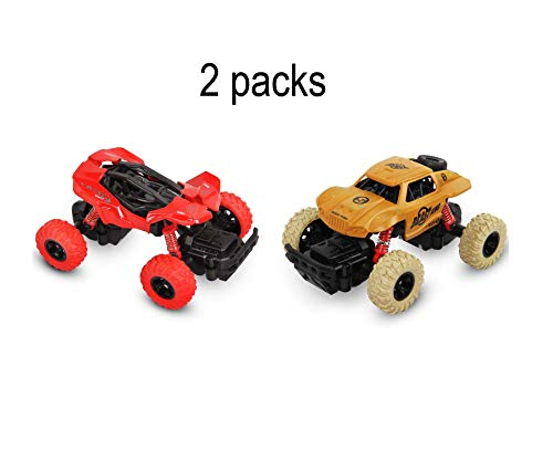 af-tigonhw Pull Back Trucks, Pull Back Cars for Boys, Friction Powered Cars for Boys and Toddlers, Pull Back Vehicle with High Speed, Diecast Hot Wheels Trucks 1:36 Scale 2 Pack