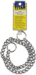 Coastal Pet Products DCP552518 18-Inch Titan Medium Chain Dog Training Choke/Collar with 2.5mm Link, Chrome