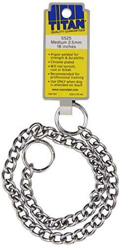 Coastal Pet Products DCP552518 18-Inch Titan Medium Chain Dog Training Choke/Collar with 2.5mm Link, Chrome