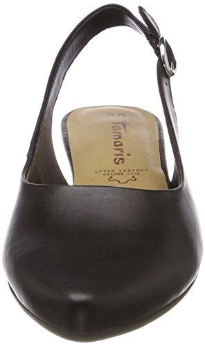 Leather Femme Bride Black 29400 Arrière Sandales Noir Tamaris Hxwzv0nn