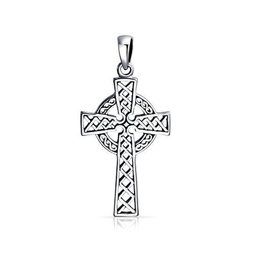 (Religious Celtic Woven Cross Pendant)