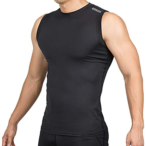 DRSKIN Undershirts Running Shirt Tank Tops Men's Cool Dry Compression Baselayer Sleeveless (STBB05, M) ()