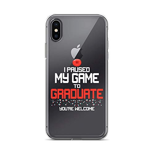 iPhone X/XS Pure Clear Case Crystal Clear Cases Cover Funny College Or High School 2019 Gamer Graduation Transparent