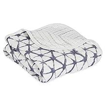 aden + anais Silky Soft Stroller Blanket, Pebble Shibori