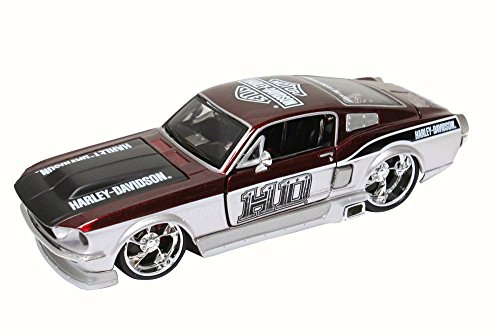 Maisto 32168 HD - 1967 Ford Mustang GT Hard Top Harley-Davidson 1:24 Scale Metallic ()