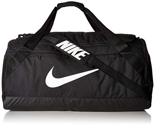 - NIKE Brasilia Duffel Bag, Black/Black/White, Large