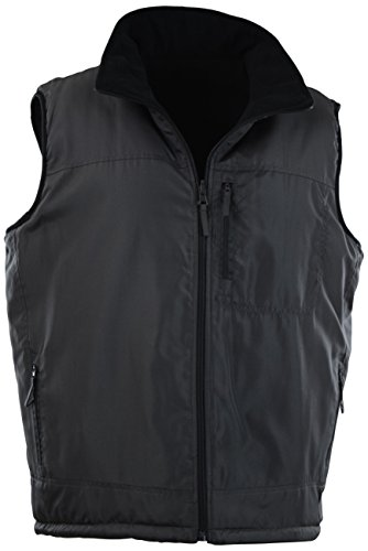 ChoiceApparel Mens Basic Padded Windbreaker Puffer Vests (Many Styles to Choose from) (S, 408-Charcoal)