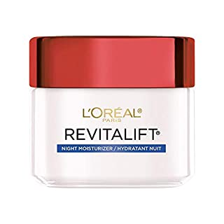 Night Cream by L'Oreal Paris, Revitalift Anti-Aging Face Moisturizer with Pro-Retinol and Centella Asiatica, Paraben Free, Non-Comedogenic, Suitable for Sensitive Skin, 2.55 Oz.