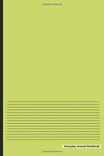 """Download Everyday Journal Notebook - Lined Paper (Lime Cover): 6"""" x 9"""", Ruled Lined Journal,Non-Spiral Durable Bound Journal,100 pages for Writing, Sketching & Notes ebook"""