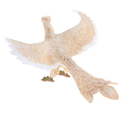 D DOLITY Figura de Perro/León/Fénix/Serpiente/Cocodrilo de Simulación Ornamento para Hogar Escritorio - blanco phoenix