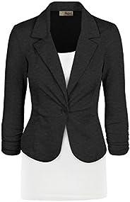 Women's Casual Work Office Blazer Jacket JK1131 CHARCO