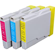 3 Pack Compatible Brother LC-51 1 Cyan, 1 Magenta, 1 Yellow for use with Brother DCP-130-C, DCP-350-C, DCP-540-CN, Fax-1355, Fax-1360, Intellifax 1360, Intellifax 2480C, MFC-240-C, MFC-260-C, MFC-3360-C, MFC-440-CN, MFC-465-CN, MFC-5460-CN, MFC-5860-CN, MFC-665-CW, MFC-685-CW, MFC-845-CW, MFC-885-CW. Ink Cartridges for inkjet printers. LC-51-C , LC-51-M , LC-51-Y © Zulu Inks