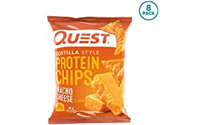 Quest Nutrition Protein Tortilla Chips, Nacho, 8 Count