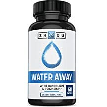 Natural Diuretic Water Pill with Dandelion and Potassium - Premium Herbal Blend to Relieve Water Retention Naturally - Other Ingredients Include Green Tea, Cranberry, Vitamin B-6, Juniper Berry & Bucchu Leaves - 60 Capsules - Made in USA