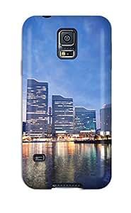 6669469K87405183 Protective Case For Galaxy S5(sunset In Yokohama Japan)