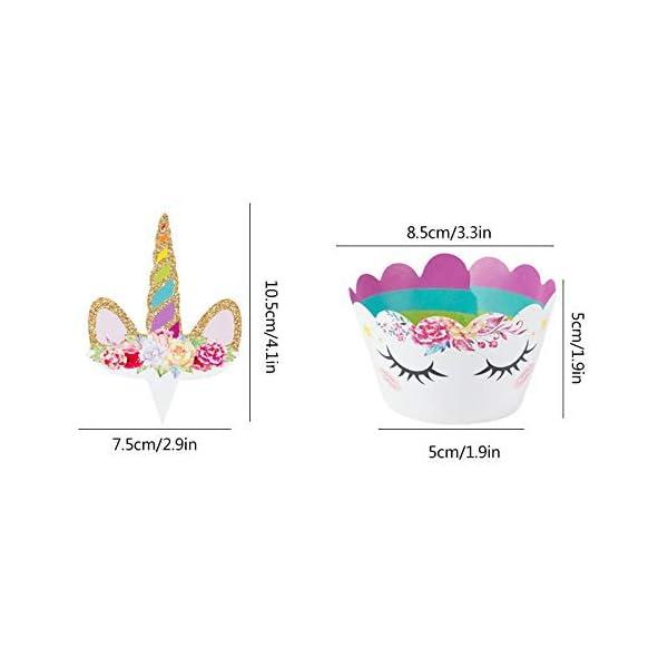 Makadami Unicorn Cake Topper - Unicorn Cake Decorations - Unicorn Cupcake Topper - Unicorn Horn Headband - Unicorn Party… 9