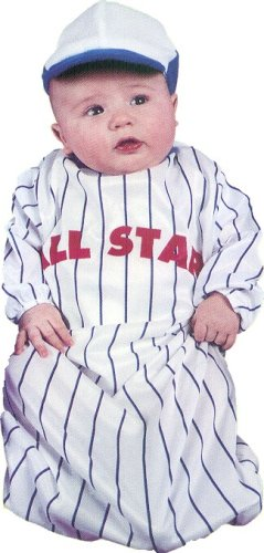 Baseball All Star Pinstriped Baby Infant Bunting Halloween