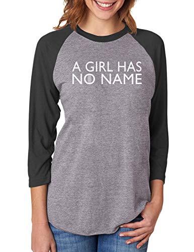 TeeStars - A Girl Has No Name 3/4 Women Sleeve Baseball Jersey Shirt Small Black/Gray