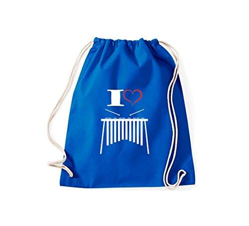 Shirtstown - Bolso de tela de algodón para mujer Azul - azulón