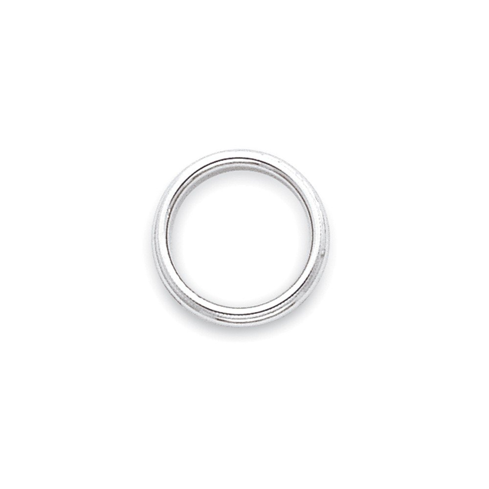 10k White Gold 3mm Milgrain Half Round Band Fine Jewelry Ideal Gifts For Women