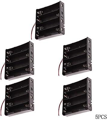 1 solts /× 10 Piezas 3.7V 18650 Caja de Almacenamiento de bater/ía Caja de Soporte de bater/ía de pl/ástico con Cables y Abrazaderas de Cables Autoadhesivas bater/ías no Incluidas
