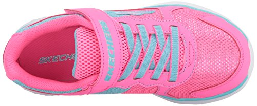 Pictures of Skechers Kids Girls' GO Run 400-Sparkle 81358L Neon Pink/Aqua 2